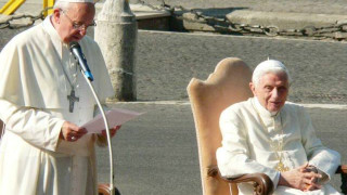Reencuentro del Papa Francisco con Benedicto XVI