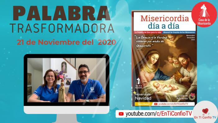 Camino Diario de Oración Personal / 21 de Noviembre del 2020