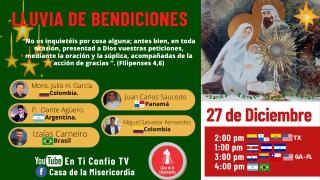 Encuentro Lluvia de Bendiciones / 27 de Diciembre del 2020