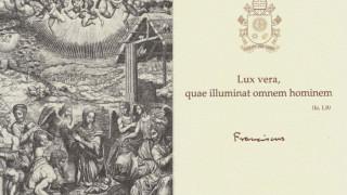 Con su tarjeta de Navidad, el Papa nos da un mensaje de la pobreza