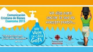 La Iglesia en Colombia lanza para la Cuaresma una campaña por el cuidado del agua