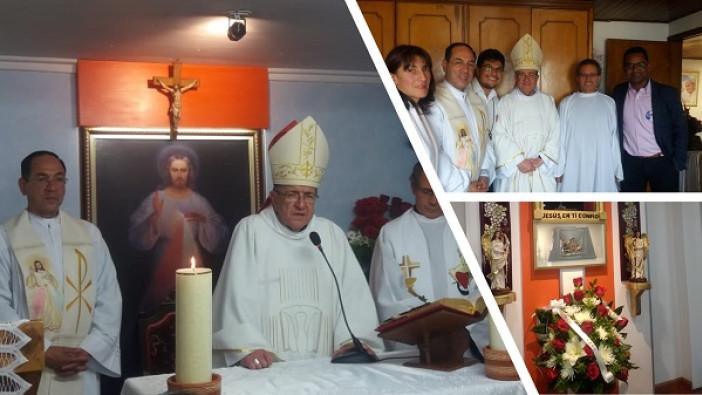 Entronización del Santísimo Sacramento en la sede San Juan Bosco en Chía