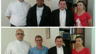 Encuentro fraterno con Monseñor Jorge Alberto Ossa, Obispo de Santa Rosa de Osos, en Antioquia.